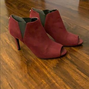 Women's Peep Toe Booties, Sz 7.5